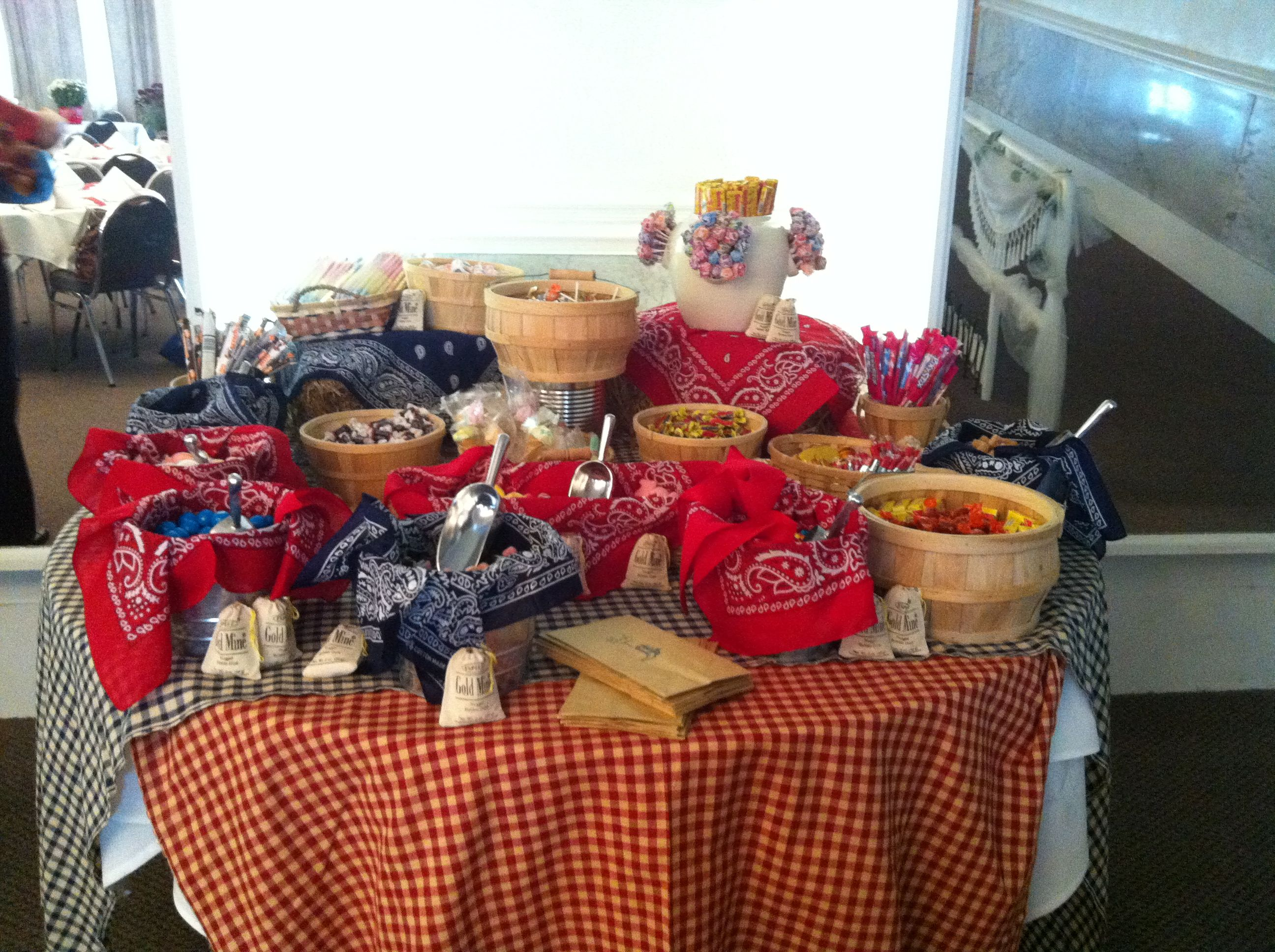 Candy Buffet At My Cowboy Themed Baby Shower