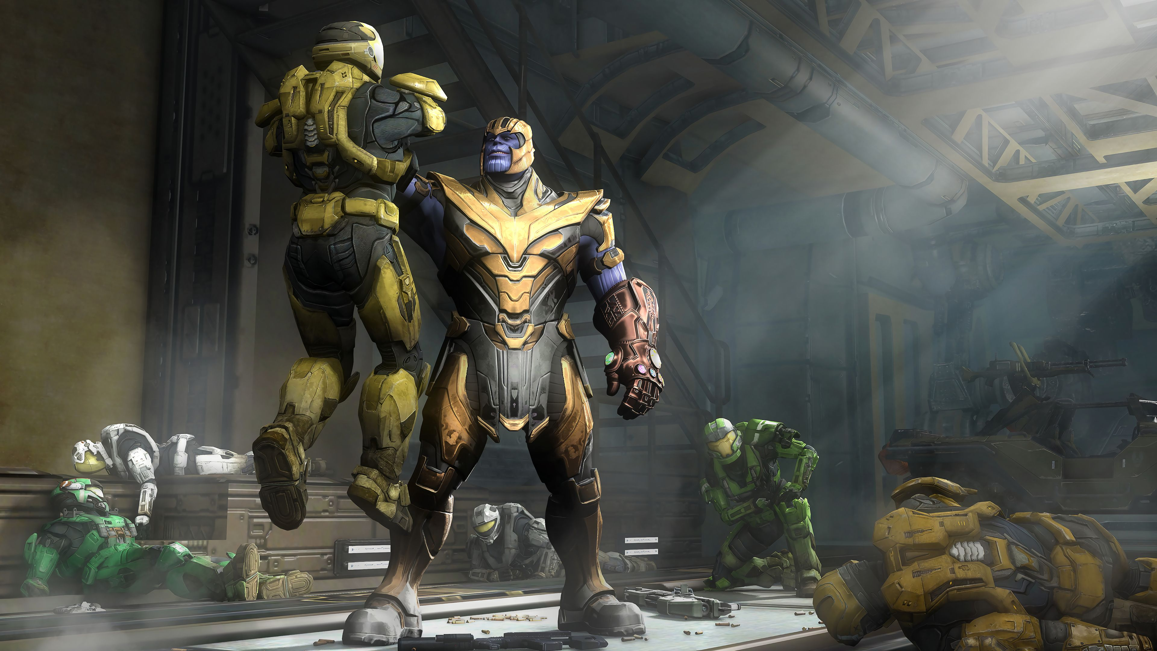 Marvel Thanos And Halo Spartan 4k Thanos Wallpapers Marvel