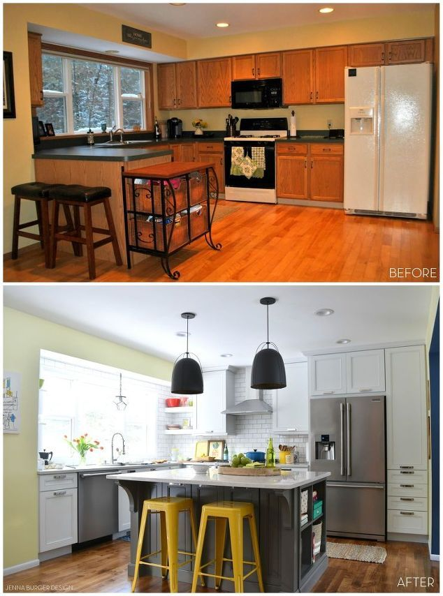White With Pops of Color KITCHEN MAKEOVER | Ceilings, Storage and ...