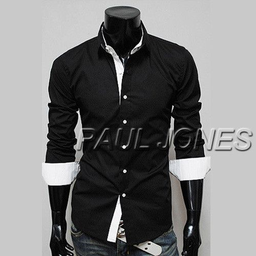 Men's Button-Up Night Out/Casual Business Dress Shirt - 4 Colors ...