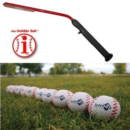 Baseball Training Bat Package Insider Bat 12 Soft Hit Baseballs 6 For Ages Under 12 Best Sports Direct Http Www Amazon Com Dp B00hzvovaw Ref Cm Insider Bat