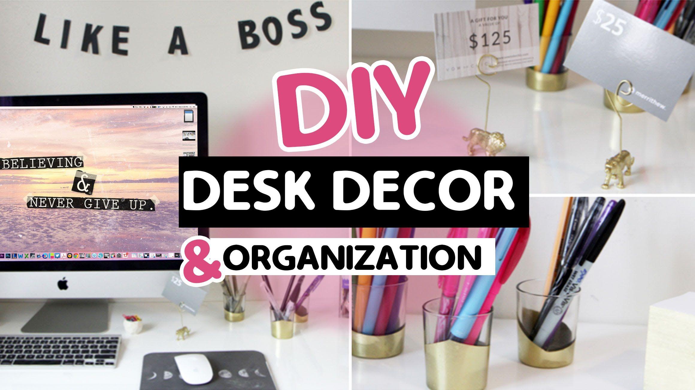 Uncategorized Diy Desk Organizer Ideas diy desk decor by ashley ann laz from helloashleyann com organization