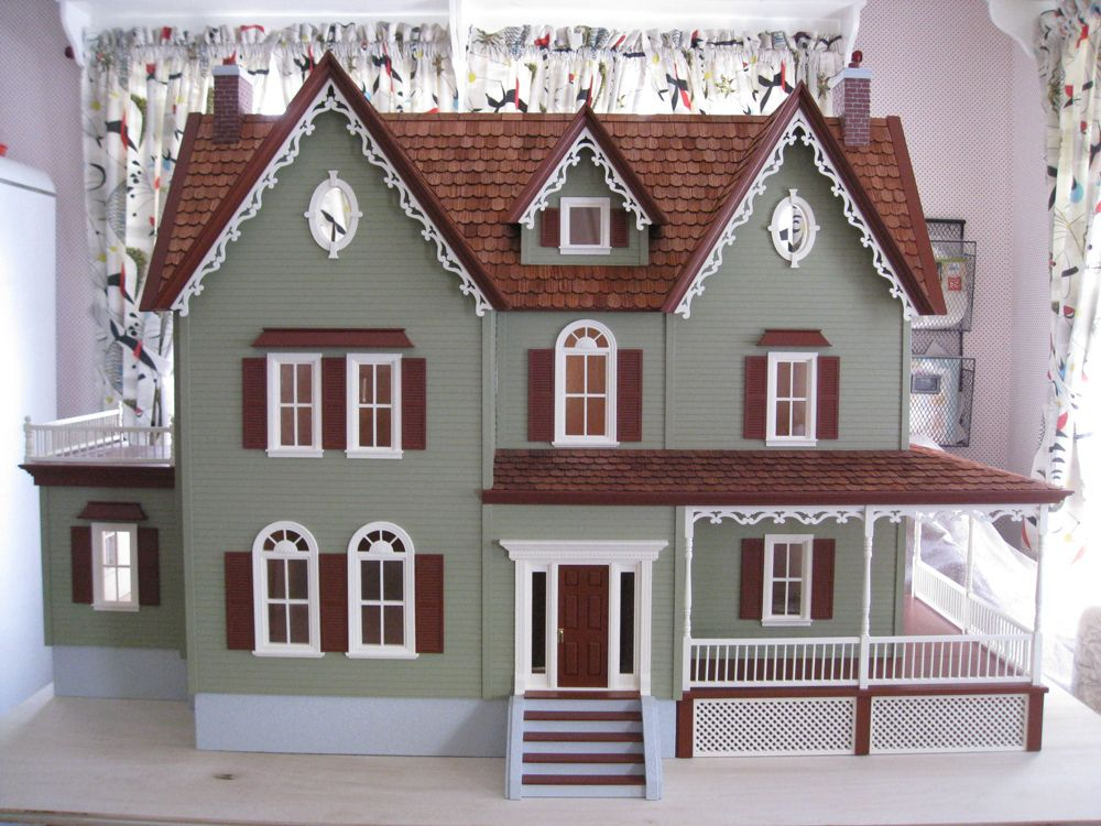 Paula Doyon Completed This North Park Mansion Dollhouse Kit By Real Good Toys She Used Benjamin