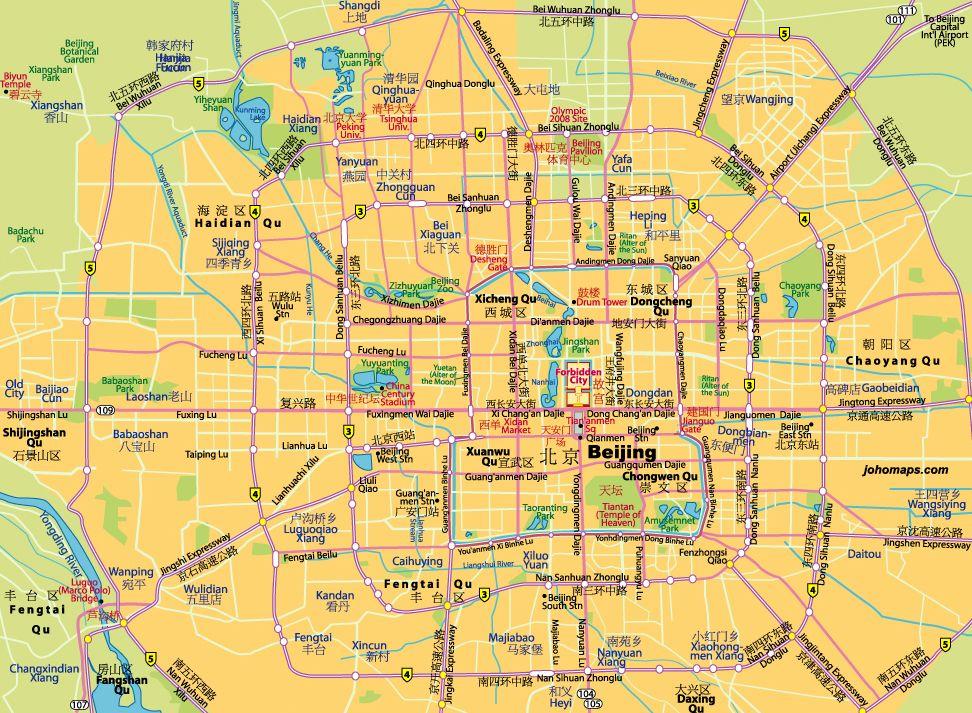 Carte Chine Yiwu.Guide Des Principaux Sites Touristiques De Pekin Chine China