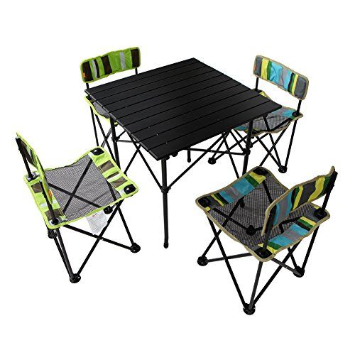 Lightening Deals Us 55 99 Instead Of Us 108 99 Yodo Portable Folding Picnic Camping Table And Chairs Fo Outdoor Wicker Chairs Camping Table Outdoor Chairs