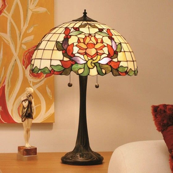 Laurelle Large Table Lamp Stained Glass Lamp Shades Tiffany Lamp Shade Lamp