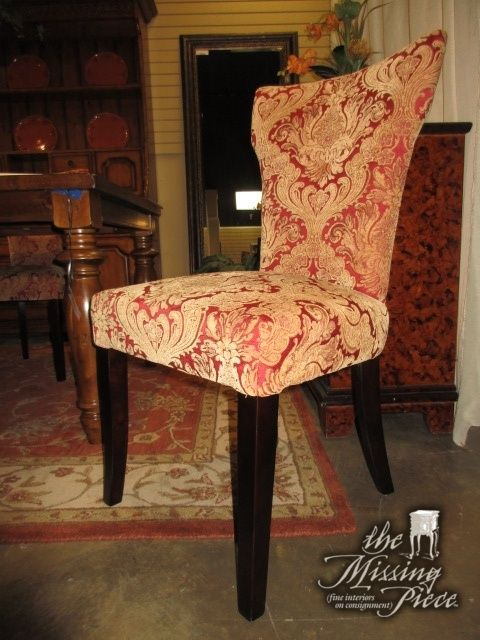 This Is A Set Of Four Upholstered Dining Chairs From Pier 1 With A