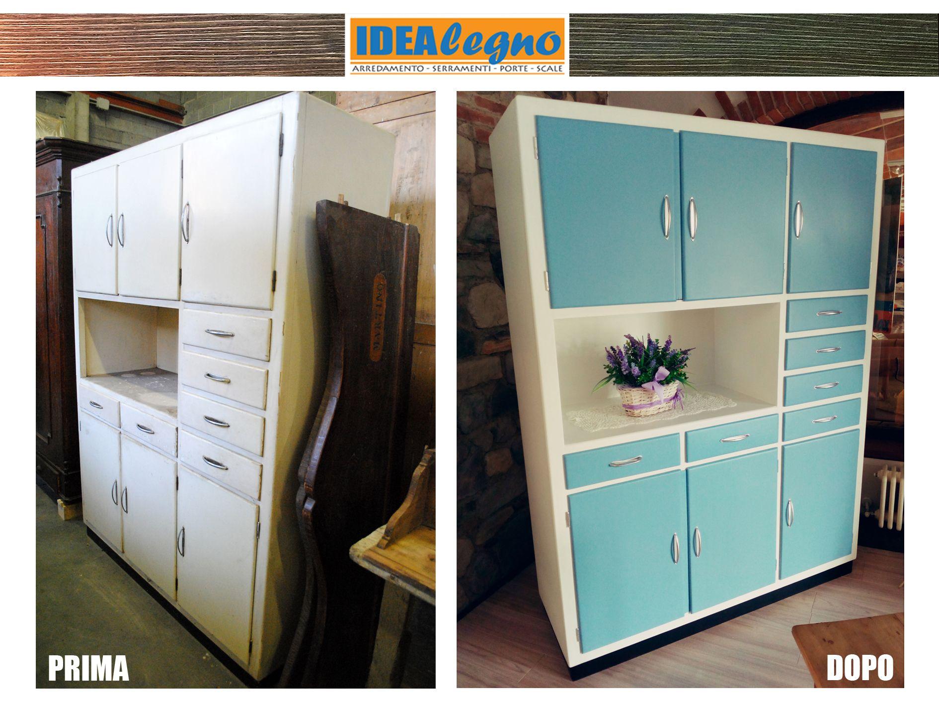 Restaurare Credenza Fai Da Te : Credenza originale anni 50 restaurata con i colori dellepoca. un
