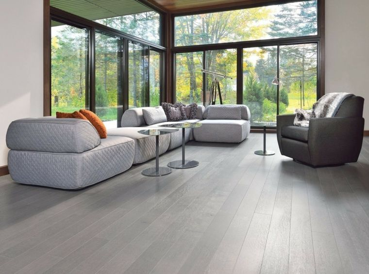 Soggiorni moderni componibili e un\'idea con divano imbottito di ...