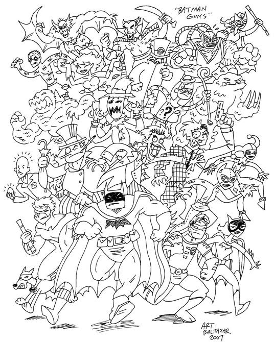 Lots Of Huge Coloring Pages Of Various Superheros And Villans For