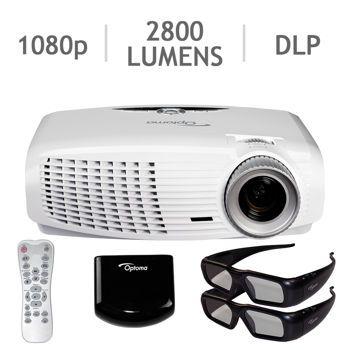 Costco Optoma Hd25e 3d 1080p Hd Dlp Home Theatre Projector Bundle Home Cinema Projector Projector Best Projector
