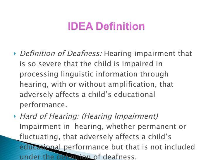 Deafness definition PLC presentation Hearing Disability