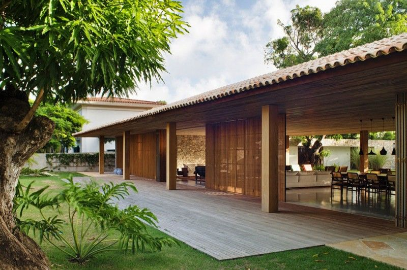Home Design, Large Space Tropical House Design: Cool Tropical House Design  Ideas