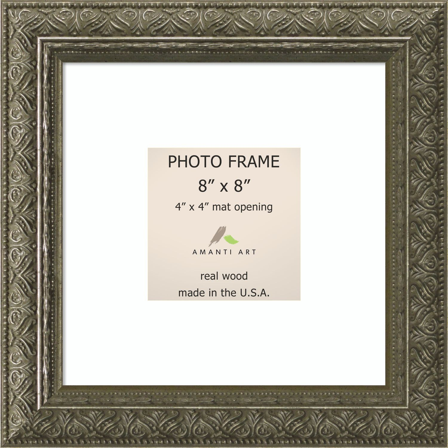 Barcelona Pewter Photo Frame 10 x 10-inch (Pewter Photo Frame Matted ...
