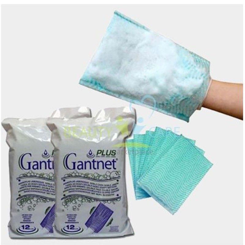 ليفة صابونية مزدوجة الوجه لاستخدام مرة واحدة Gantnet Plus لتنظيف الجسم بالكامل دون استخدام الماء Wholeness Soapy Hygiene