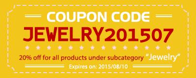 Coupon code:JEWELRY201507