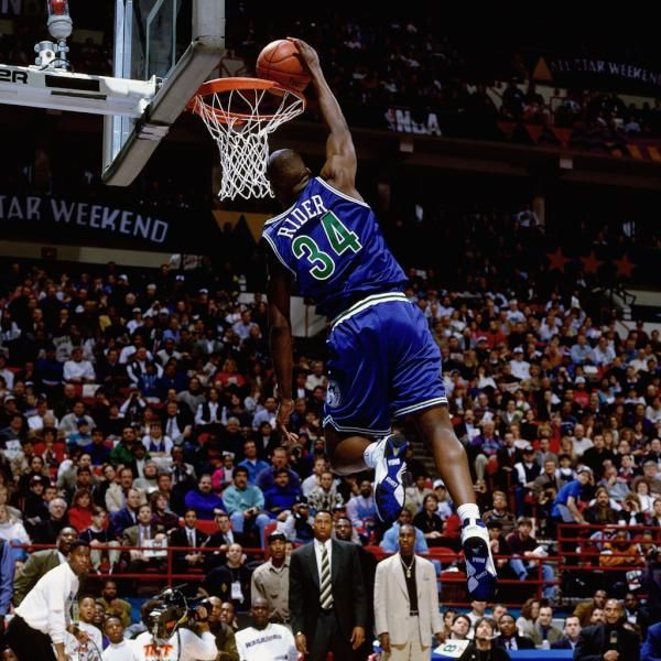 Isiah Rider In The 1994 Nba Dunk Contest This Old School