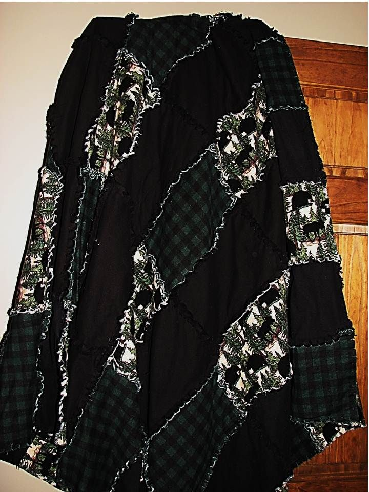 woodsy looking rag quilt with deer - Google Search | Quilts ... : rag quilt curtains - Adamdwight.com