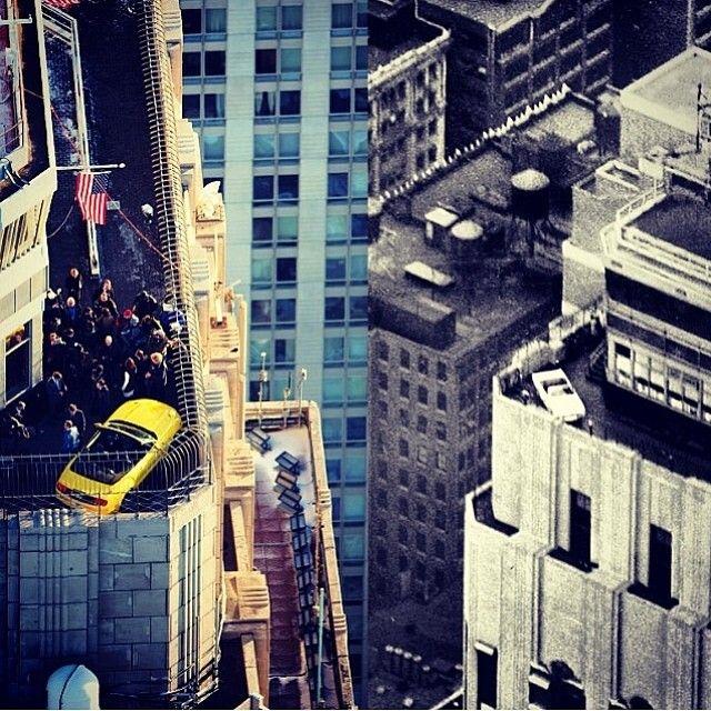 @ford #mustang on top of the observation deck of the @empirestatebldg #regram via @forditalia #mustangram #fordmustang50 #fordmustang #ford #livedrivelove