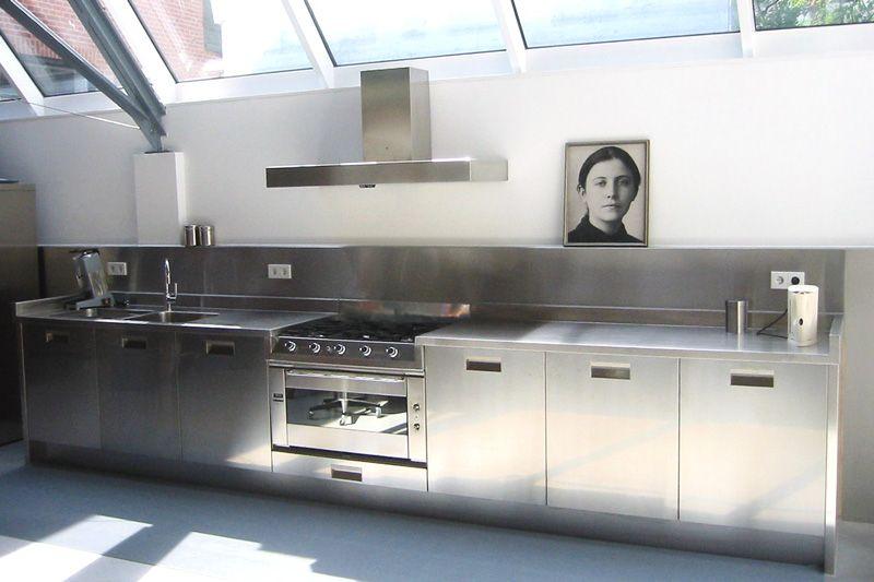Rvs Design Keuken : Rvs keuken alleen dan zou ik het combineren met een houten vloer
