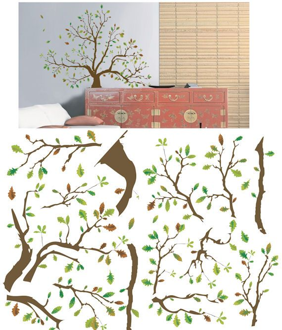 Art Applique Autumn Tree Wall Sticker - Wall Sticker Outlet - Thankful Tree?