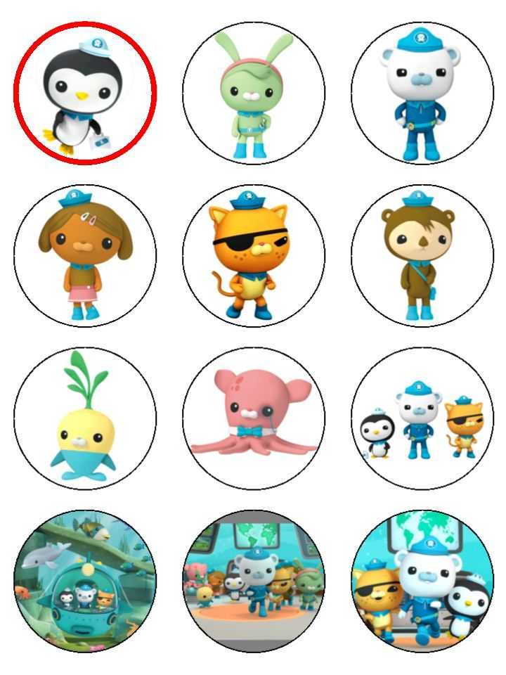 Tempting Toppers Carousel Octonauts Cup Cake Elsa Birthday Party Fourth Diy