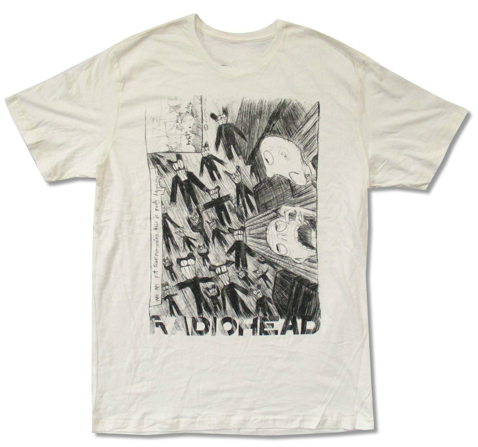 >> Click to Buy << RADIOHEAD SCRIBBLE IMAGE IVORY WHITE T SHIRT NEW ADULT OFFICIAL WASTE #Affiliate