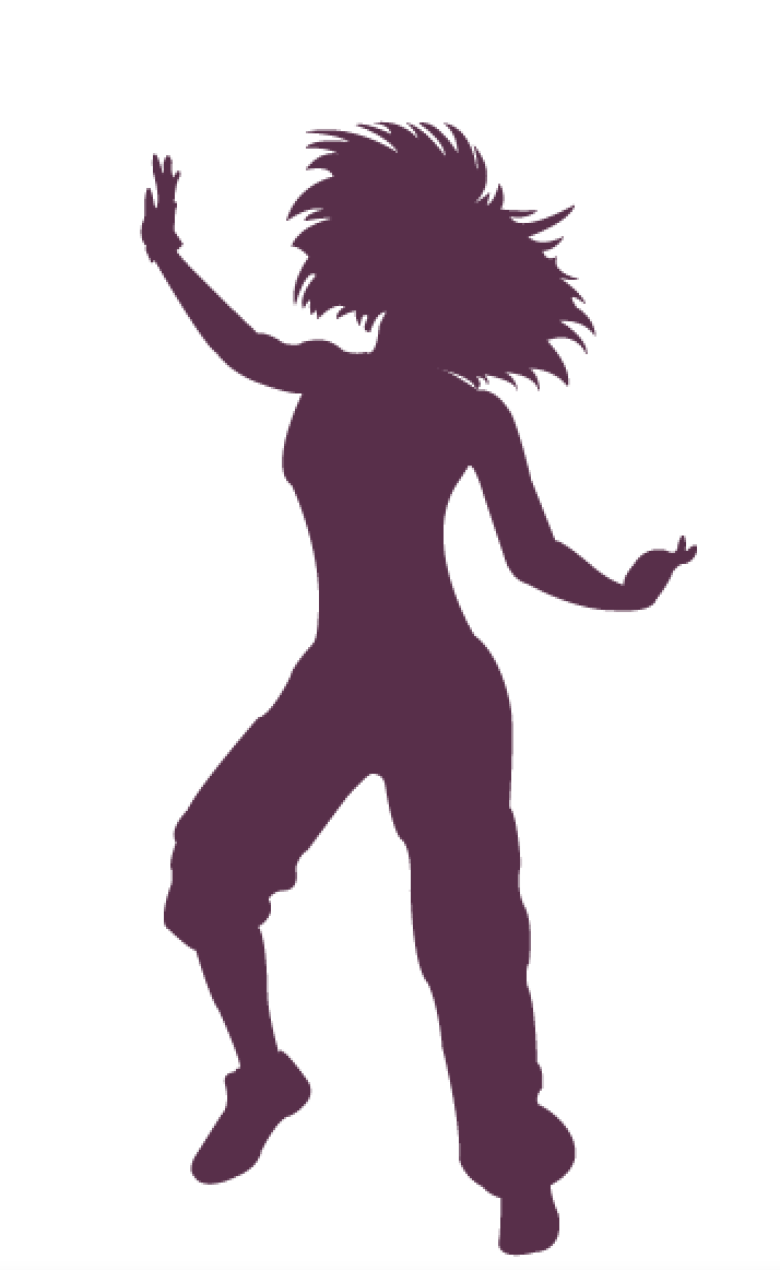 Zumba dancer silhouette google search zumba dancing