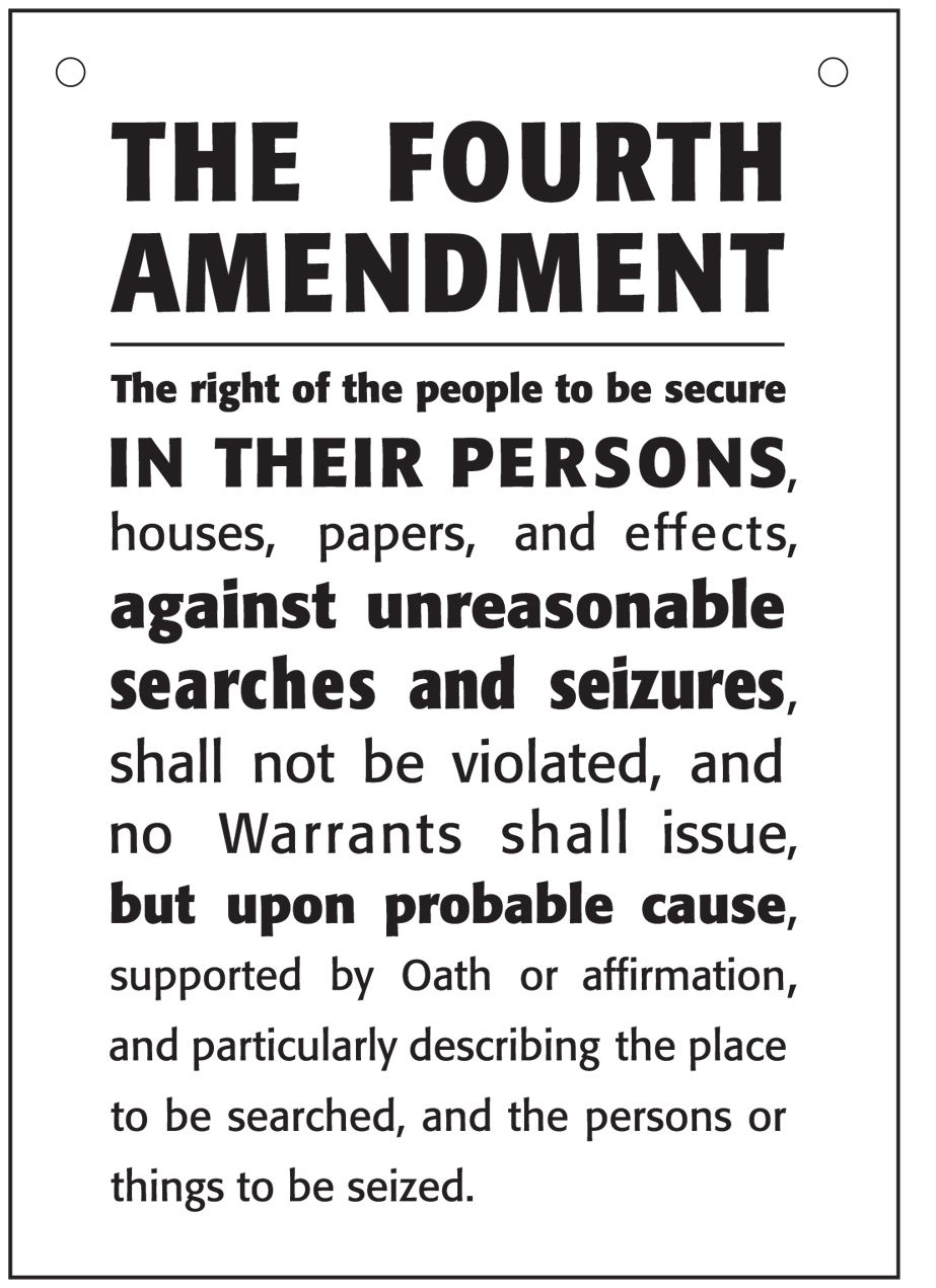 4th amendment to the u.s. constitution - protection against