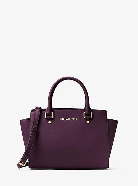 0df50ab87bbf Michael Kors Selma Saffiano Leather Medium Satchel. Michael Kors Selma  Saffiano Leather Medium Satchel Crossbody Bag ...