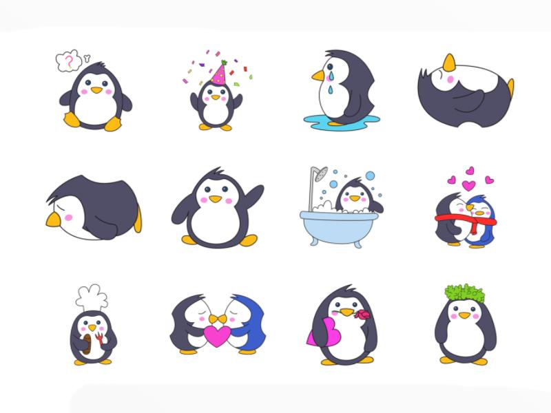 Cute Penguin Emoji Cute Penguins Cute Emoji