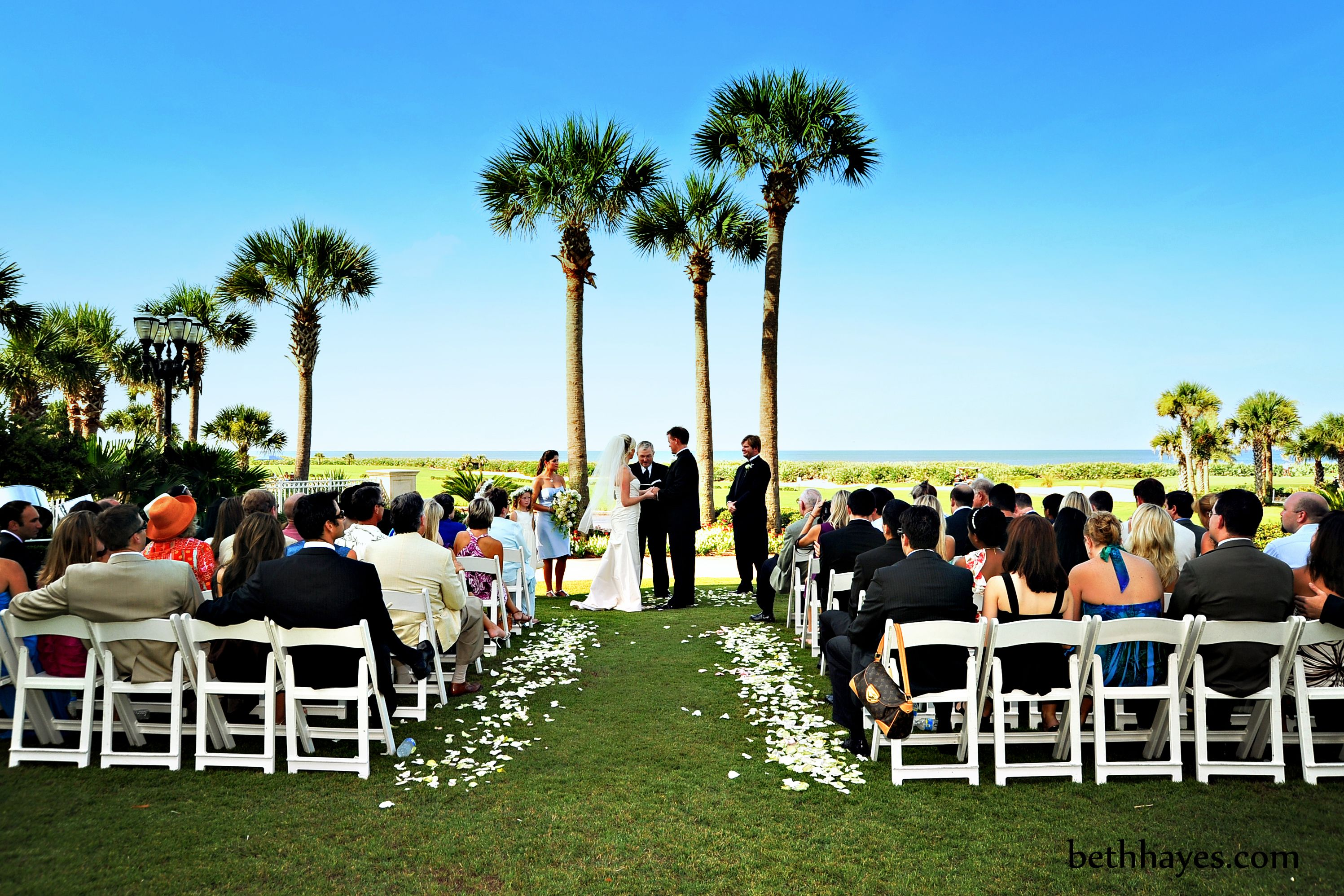 Hammock Beach Wedding Ceremony On Grand Event Lawn