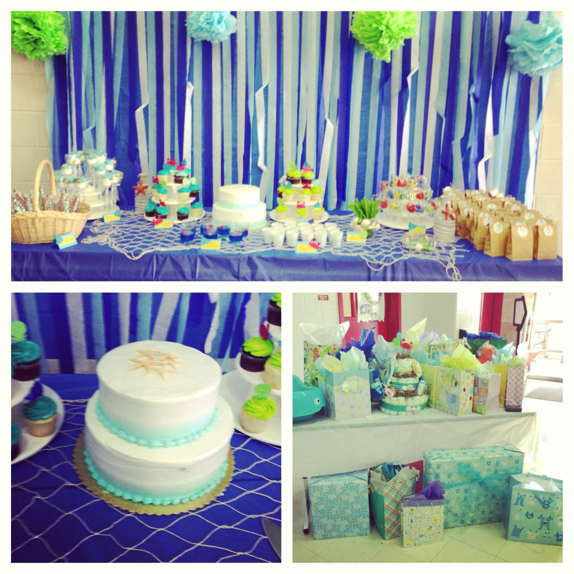 Baby Shower Decorations Table Settings: Sweet Treat Table Decoration Ideas For Under The Sea Baby