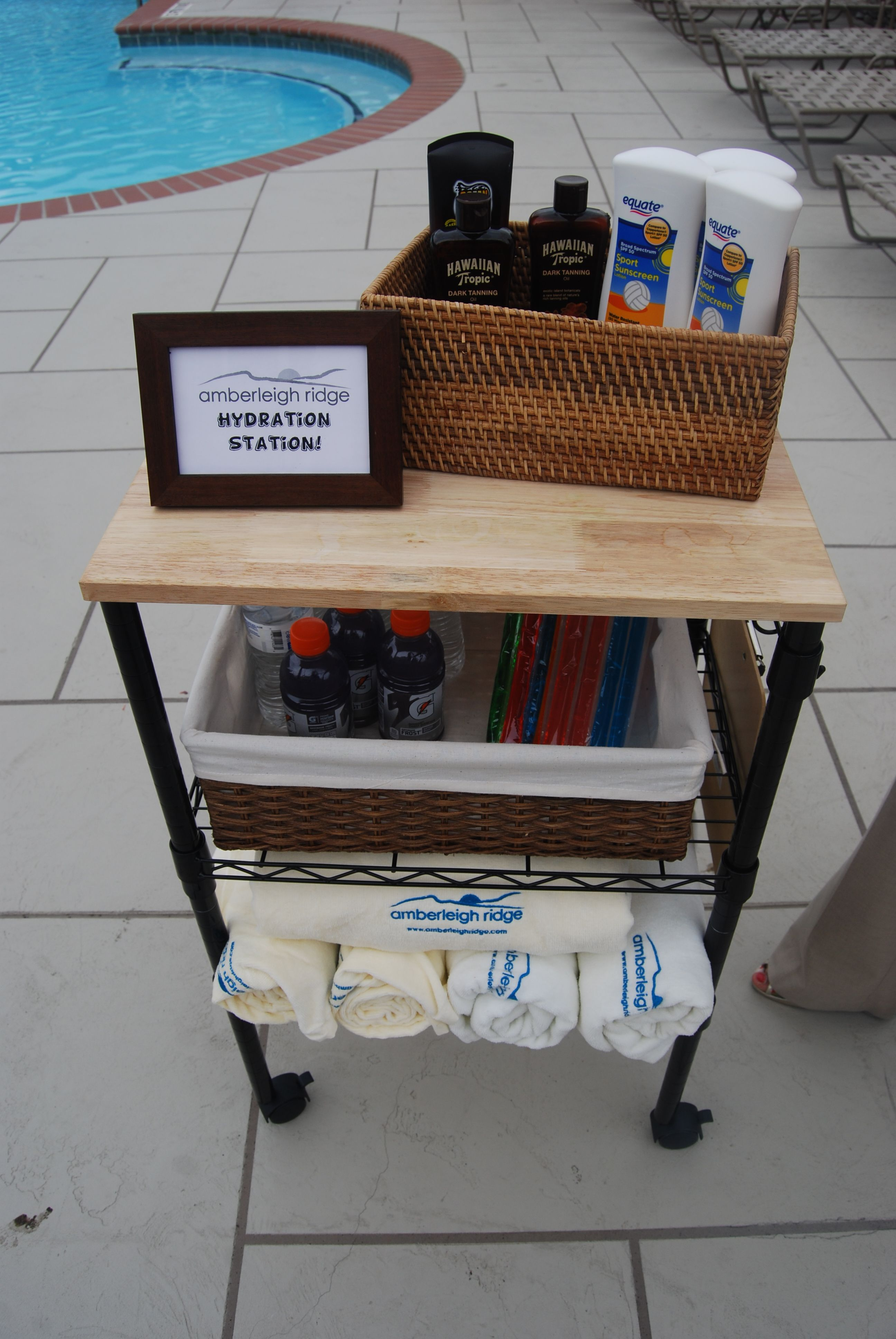 Apartment Marketing Poolside Service And Hydration Station