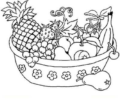 Bodegon Para Colorear Bodegon Para Colorear Canasta De Frutas