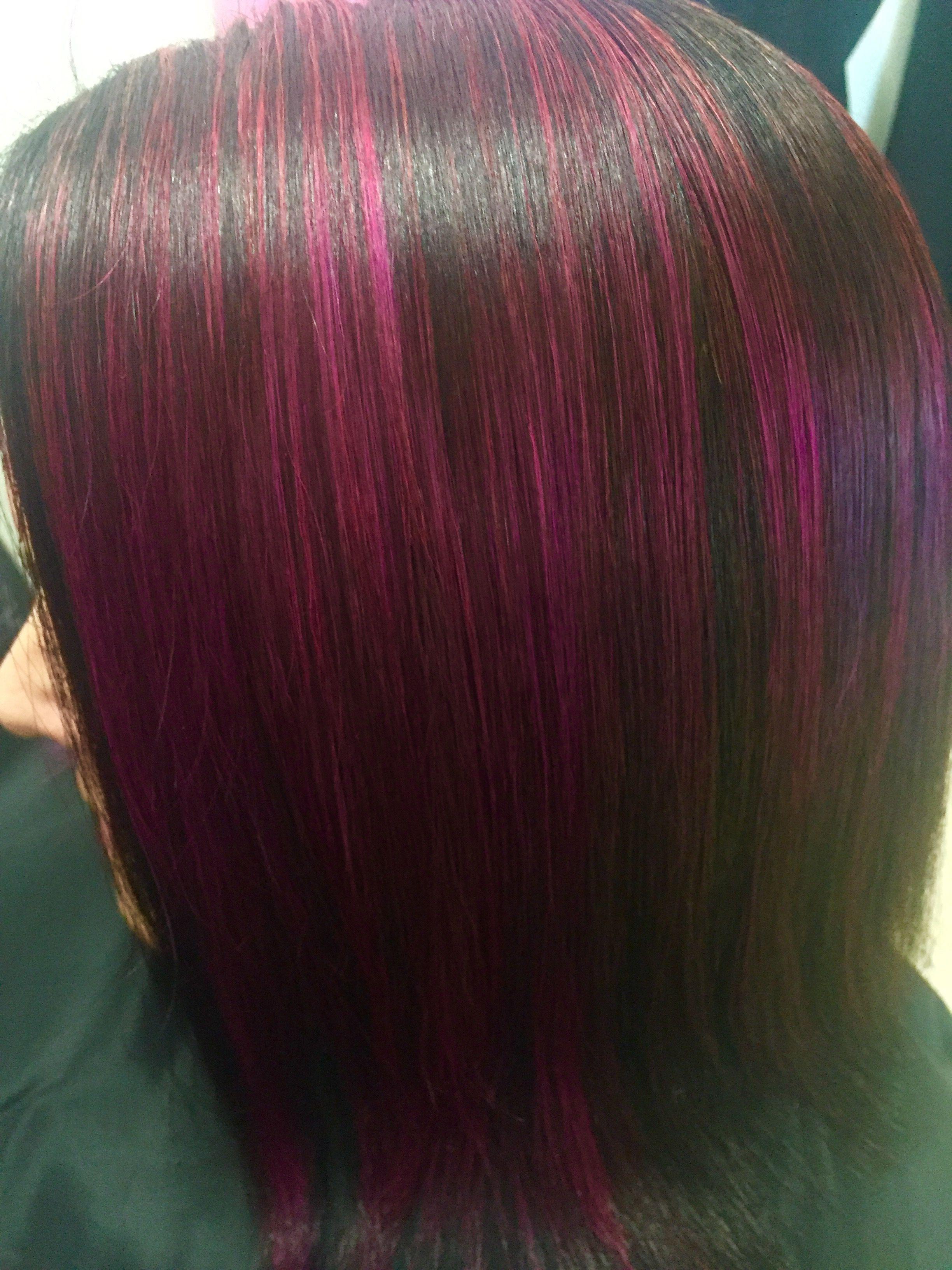 Pink/ black foils