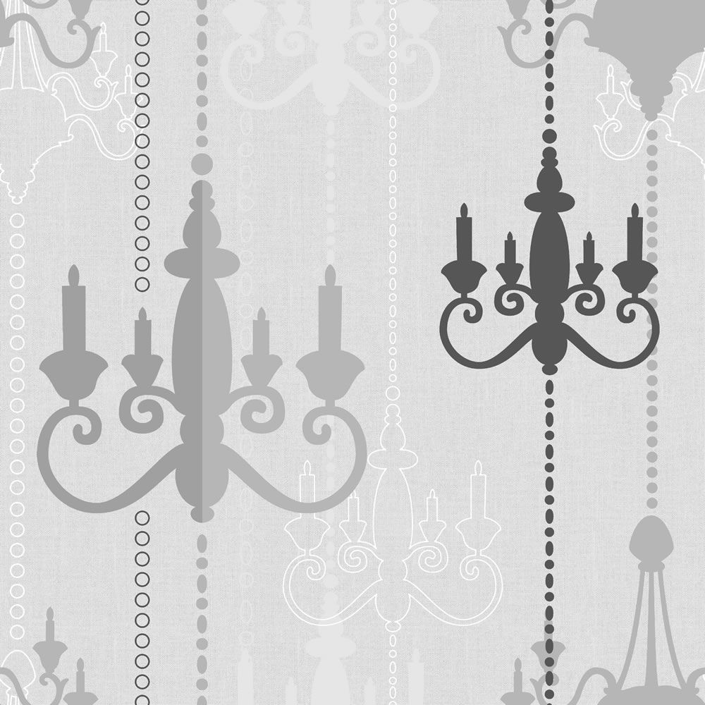 Wilko Chandelier Wallpapers Black/Grey WP332111