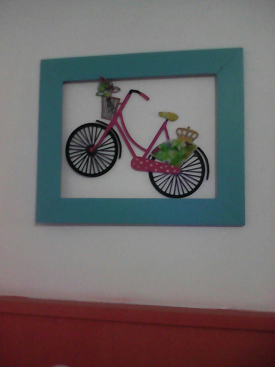 Cuadro de bicicleta rosada,con marco Verde Agua | arte | Pinterest ...