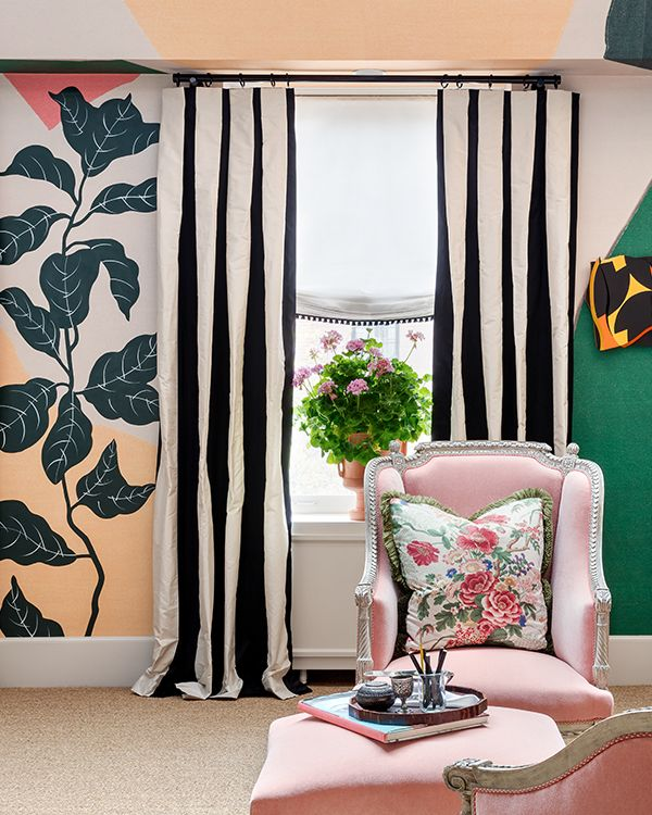 Awesome Curtain Ideas For Bay Window Living Room Eclectic: Art, Nature, Texture, And Style Converge In Young At Art