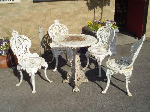 Ornate Cast Iron Vintage Patio Furniture Art Deco Chair