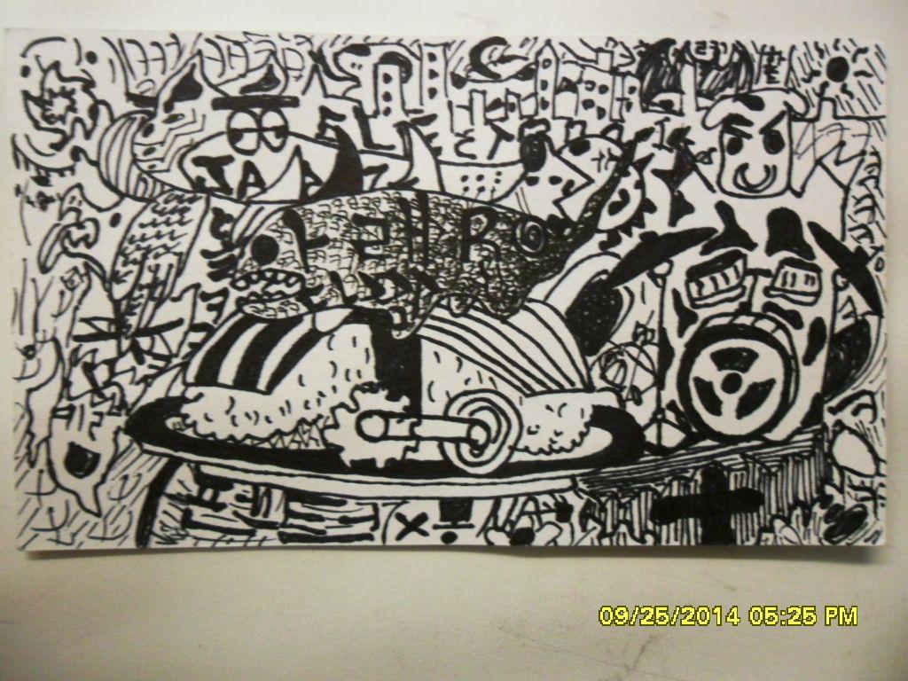 Surrealistic Graffiti Style Drawing