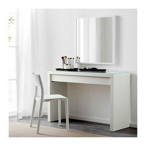 Ikea malmtoilettafel wit 120x41 cm 129 eigen huisjes pinterest mal - Dressing extensible ikea ...