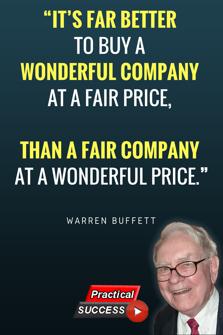 Brk B Stock Quote Awesome An Inspiring Quote On Investing And Success From Warren Buffett One