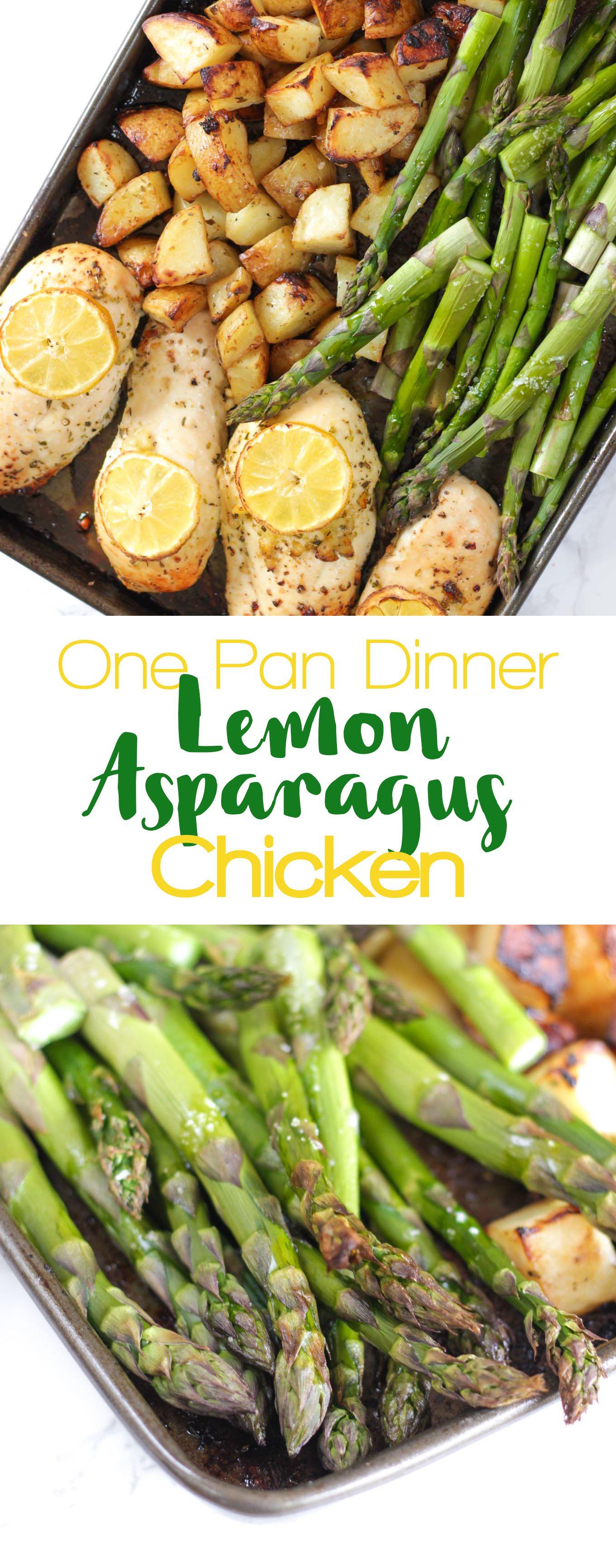 One Pan Lemon Asparagus Chicken