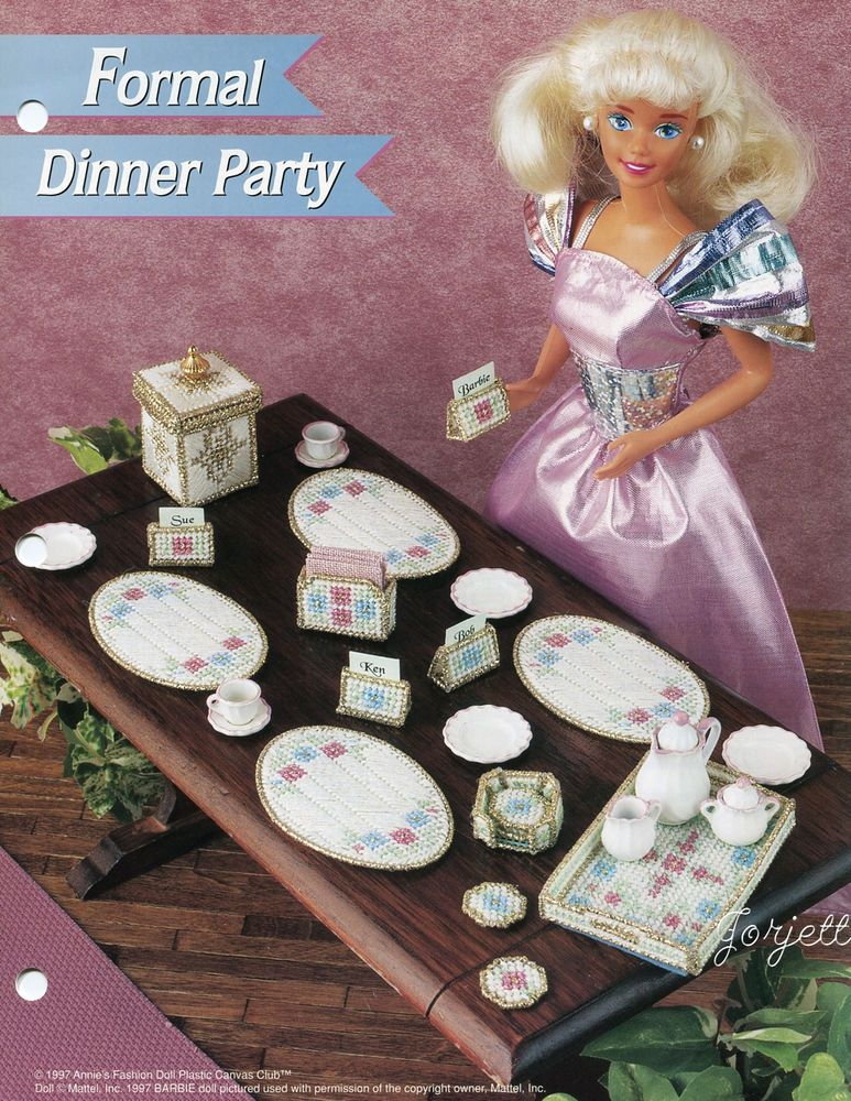 Annie/'s plastic canvas pattern leaflet Health Bar ~ fits Barbie dolls
