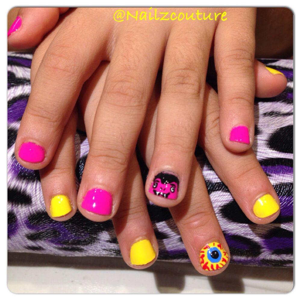 Kids halloween nails | Halloween nails, Nails, Nail art