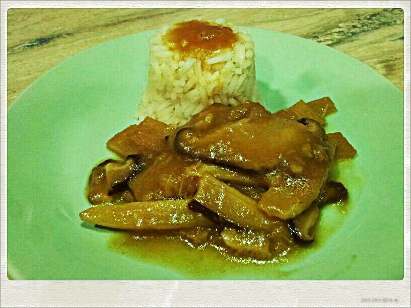 Arroz con Bambú y Setas Chinas | Gastrocenicienta