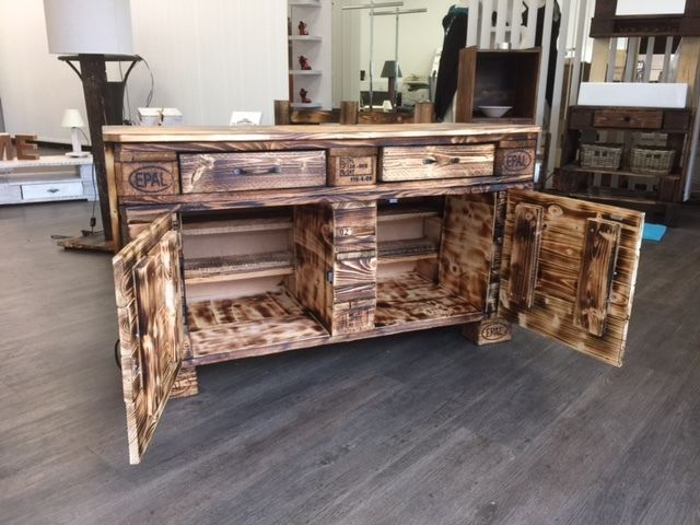 sideboard schrank kommode palettenm bel bastelarbeiten pinterest schrank kommode und. Black Bedroom Furniture Sets. Home Design Ideas