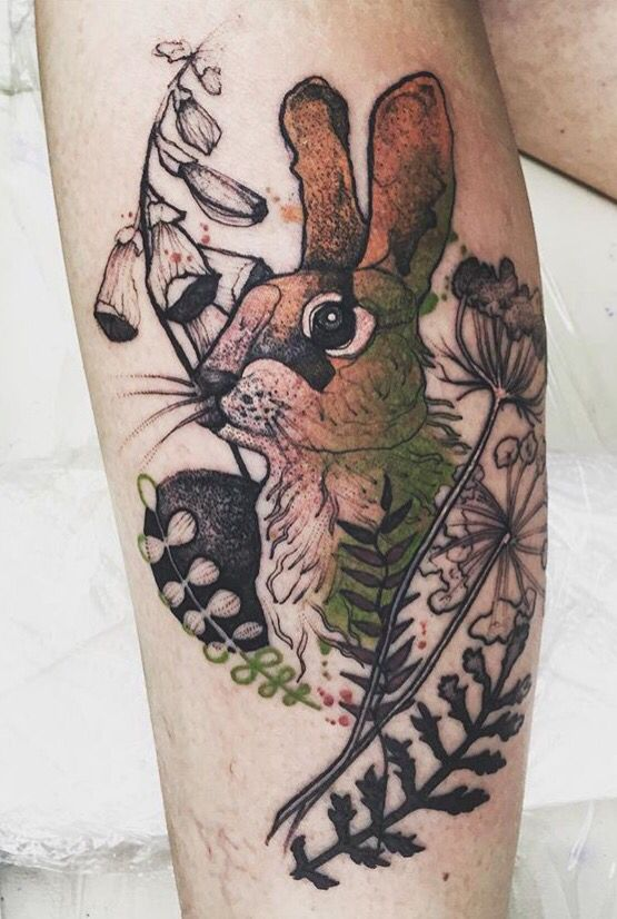 Joanna Swirska Dzo Lama rabbit tattoo