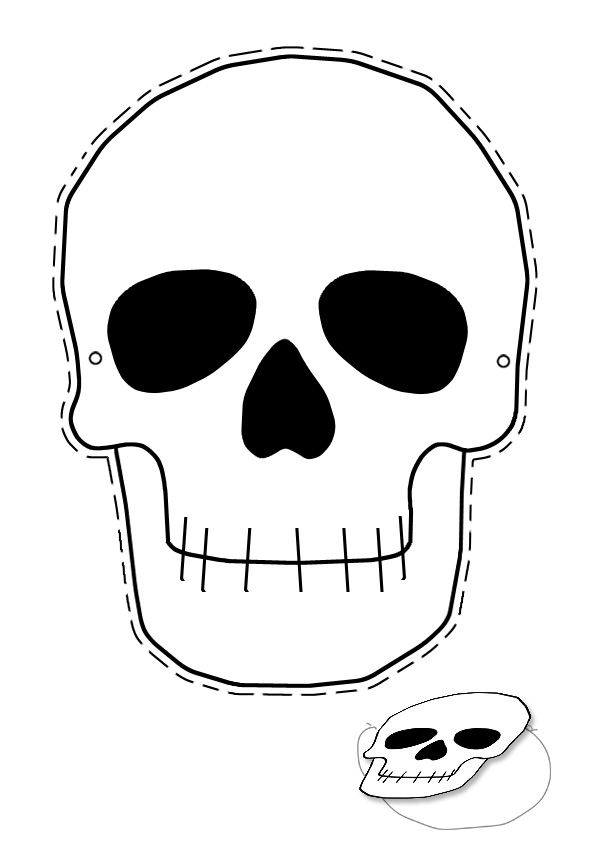 skull template for kids halloween skull mask printable - Halloween Skeleton Head